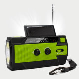 Hiking Outdoor Waterproof Dynamo Emergency New Torch Radio with Hand Crank