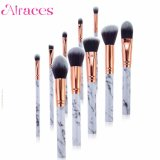 10PCS Professional Marble Makeup Brush Set