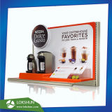 Advertising Coffee Mill Acrylic Countertop Display High Quality L-Shape Perspex Merchandise Display Stands