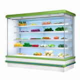 Open Face Air Curtain Display Cooler Refrigerator Showcase