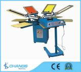 Spm 8 Colors Manual Rotary T-Shirt/Leather/Wood/Textile Printing Machine