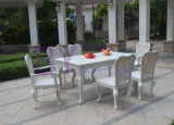 Wholesale Outdoor European Style Hotel Rattan Table and Chair Furniture