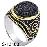 2016 Fashion Jewelry 925 Silver Micro Setting Men Ring (S-13103)