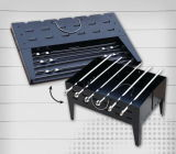 Mini Foldable Charcoal BBQ Grill with Skewers