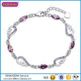 2016 New Arrival 925 Silver Jewelry Amethyst Bracelet #P3002