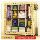 Modern Simple Wardrobe Household Fabric Folding Cloth Ward Storage Assembly King Size Reinforcement Combination Simple Wardrobe (FW-22)