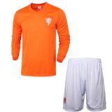 High Quality Absorbent Sweat Suit Netherlands Soccer Jersey Soccer Uniforms Autumn Long-Sleeved Dress