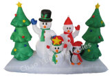Hot Sale Inflatable Snowman Christmas Tree for Decoration