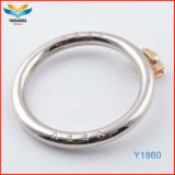 Pantone Colors Plating Zinc Alloy Circle Ring for Hangbag Case (customized logo Y1860)