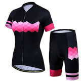 Women Summer Quick Drying Shorts Breathable Short Sleeves Sport Cycling Apparel