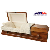 American Style Solid Poplar Wooden Casket and Coffins