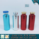 Colorful UV Electroplated Glass Vial with Filp off Lid