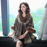 Factory Customization of Knitted Cashmere Sweater Fox Collar Evening Dress