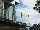 Stainless Steel Slot Post Glass Balustrade