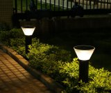 Integrated Stainless Steel Waterproof Bollard Lawn LED Solar Pathway Lights Outdoor
