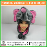 Funny Hooded Faux Fur Plush Elephant Animal Hat