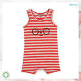 Sleeveless Baby Clothes Stripe Printing Infant Romper