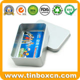 Silver Metal Tin Box for Bank Card Storage Boxes
