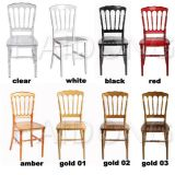 Clear Crystal Resin Napoleon Chairs