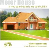 Prefab Wooden House with Attic and Garage Dy-E-220