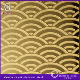 Ti Gold Color Etching Stainless Steel Sheet Plate Made in China