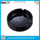 Round Black Ordinary Ceramic Cheap Ashtray