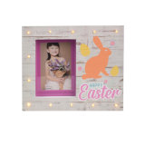 Wooden Happy Easter Photo Frame with LED Light