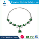 Fashion Round Pendant Necklace Simulated with Turquoise Natural Stone Necklace for Women Gift (02)