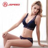 High Quality Women Sexy Gathered Bra Set for Lady Nylon Lace Underwear