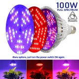 Full Spectrum Dimmable Cheap E27 PAR38 100W Medicals Plants Greenhouse LED Grow Light