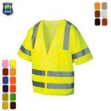 Wholesale Hi Vis Construction Security Reflective Safety Vest with Pocket