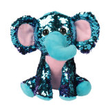 Wholesale Price High Quality Elephant Sequin Stuffed Plush Animals Doll Toy