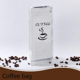 Flat Bottom Gusset Stand up White Matte Aluminum Laminated Coffee Pouch with Zip Lock/Plastic Packing Bag with Ziplock (ML-E20)