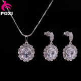 Copper Zircon Gold Plating Indian Jewelry Set