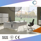 Elegant White L Shape Office Table Excutive Desk (CAS-MD1857)
