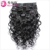 Factory Wholesale Price Raw Indian Virgin Hair Extensions Natural Black Human Hair Weave Clip in Remy Hair Water Wave