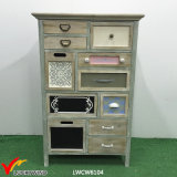 French Country Style Furniture Antique Wooden Cabinet with Multi Drawers