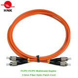 FC/PC-FC/PC Multimode 62.5 Om1 Duplex 3.0mm Fiber Optic Patch Cable