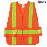 High Visibility Mesh Fabric PVC Reflective Tape Safety Vest Clothing
