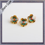 Flower 7X7mm Popular Mixed Color Brilliant Cubic Zirconia Stone