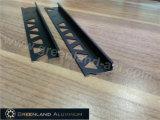 Aluminum Profiles L Shape Trims for Tile with Anodized Black Color