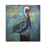 Wholesale Handmade Egret Oil Painting on Canvas for Wall Decor