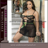 Back Sexy Women Transparent Baby Doll Lingerie (T21762)