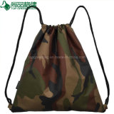 Camouflage Fabric Military Style Travel Sport Cheap Drawstring Backpacks Bags