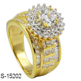 Factory Latest Designs Hip Hop 925 Silver Ring for Women Rhodium or K Gold Plating.