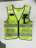 High Visible Zipper Style Reflective Vest with LED Light