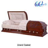 Mahogany Veneer High Gloss Hot Sale Dome Casekt and Coffin