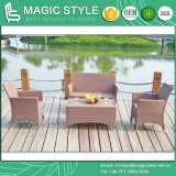 Kd Patio Sofa Set Assembly Garden Sofa Set Outdoor Wicker Sofa Set (Magic Style)