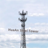 Galvanized Self Support Telecommunication Lattice Tower