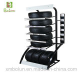 Metal Flooring 5 Layers Tire Display Rack for Exhibition